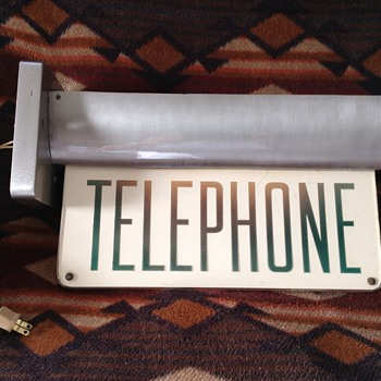 Vintage telephone sconce - Signs