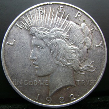 1922 Peace Dollar. Here´s another really strange  of my own, the King of VAMs for sure.... - US Coins
