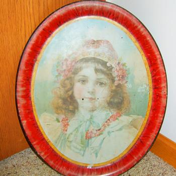 1890's Victorian Art Tray  - Victorian Era