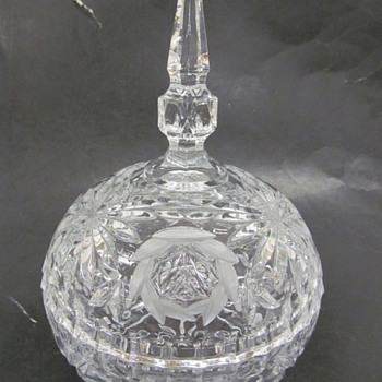 Spherical Crystal Candy Dish - Glassware