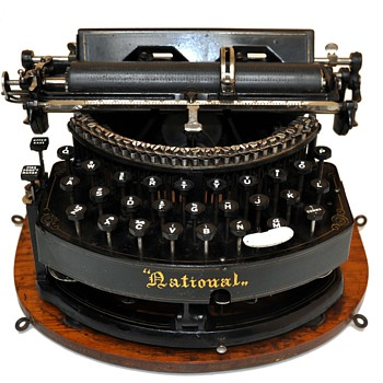 NATIONAL  Typewriter Circa 1889 - Office