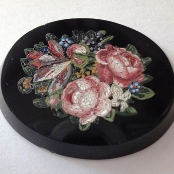 Large Mircro Mosaic Flower Bouquet Plaque - Fine Jewelry