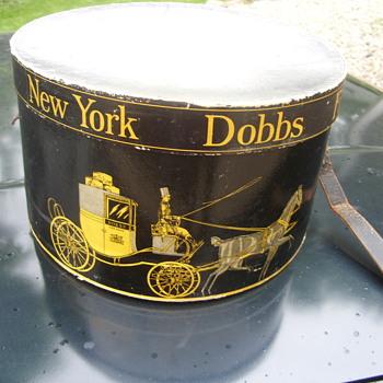 early new york dobbs hat box