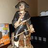 """Ceramic Pirate Lamp w/ 12"""" Figurine"""