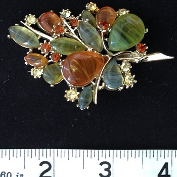 Brooch from my collection ?Lucite ?date - Costume Jewelry