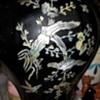 Vintage brass enamel vase