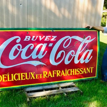 Newly acquired 1937 Canadian porcelain sign - Coca-Cola