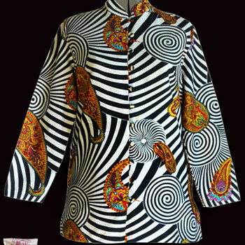 Original Alladin Psychedelic 60's Hippie Nehru Jacket - Womens Clothing