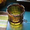 Oriental Amber Glass Planter