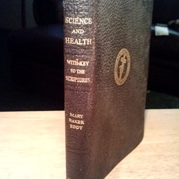 "LARRY AND LUCILLE BELL OF BELL AIRCRAFT -- HEAVILY USED "" SCIENCE AND HEALTH"" BOOK -"