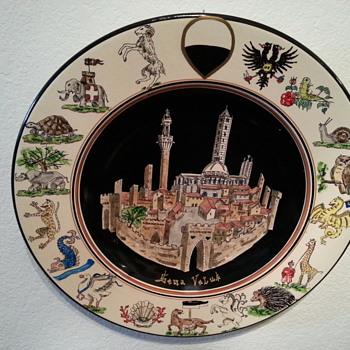 Ceramic Wall Plate - unknown artist