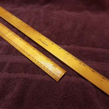 two old wooden rulers - Office