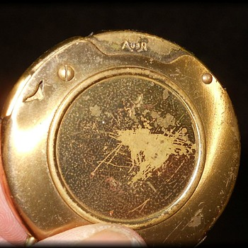Old Round Pocket Lighter - AUER - Tobacciana