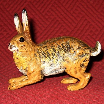 Vintage Cold Painted Austrian Bronze Hare - Animals