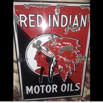 Red Indian Porcelain Sign - Signs