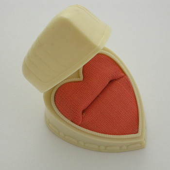 Ivory Celluloid Heart Ring Box - Fine Jewelry