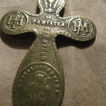 Very old brass cross - Fine Jewelry