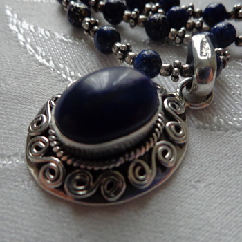Lapis Lazuli Sterling Necklace - Fine Jewelry