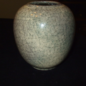 "1950's CRACKLE VASE by ""KARLSRUHE"" POTTERY FACTORY - Pottery"