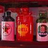 Five Gallon Texaco Oil Can...Ten Gallon Shell Oil Can...Five Gallon Indian Oil Can