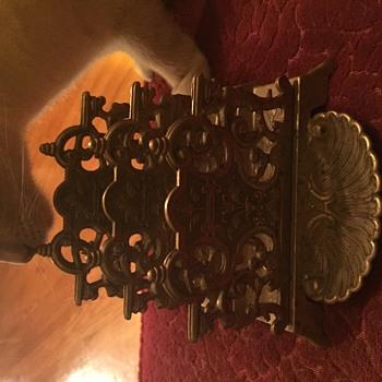 Brass? Letterholder - Art Nouveau