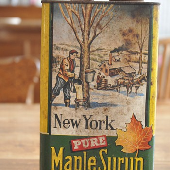 Unopened Old Can Pure Maple Syrup