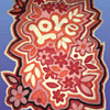 "Original 1960s California Hippie Folk Art ""LOVE"" Felt Handmade Wall Hanging"
