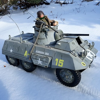 Last Of The Snowplay For Now GI Joe M8 Greyhound In Faded Winter Camo - Toys