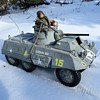 Last Of The Snowplay For Now GI Joe M8 Greyhound In Faded Winter Camo