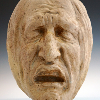 Jean-Joseph Marie Carriès (Fr., 1855-1894) Stoneware Mask - Art Nouveau
