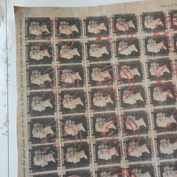 Black penny sheet - Stamps