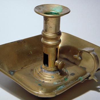 Old Brass RYTON WALTON Candlestick - Victorian Era