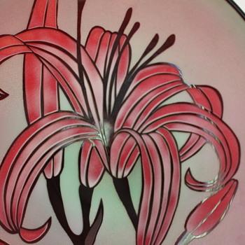 Fukuoka FTG cameo glass platter - Art Glass