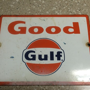 Gulf pump plates 1960's - Petroliana