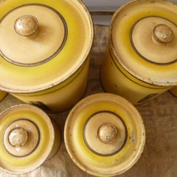 Art Deco 1930's Kitchen Canister set - Kitchen