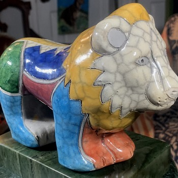 The Fenix Raku Pottery Lion from South Africa - Animals