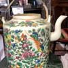 Famille Rose Teapot in a Basket