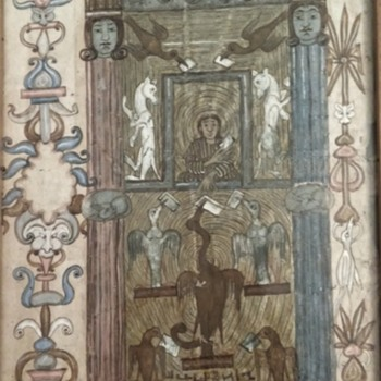 Very Old Religious Illuminated Manuscript, Unknown Orgin