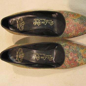 Shoe Multi color glittered
