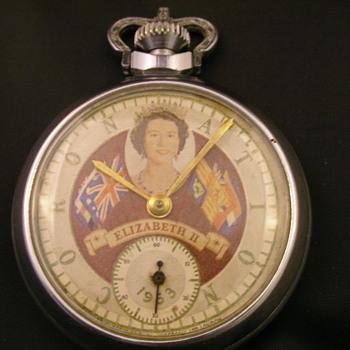 1953 Queen Elizabeth II Coronation Pocket Watch - No. 1 - Pocket Watches