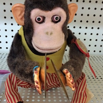 Vintage 1960s Battery Operated Monkey Toy