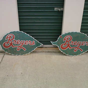 breyers ice cream signs - Signs