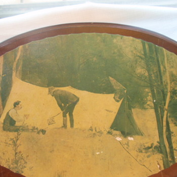 Old Australian Prospector/drover image on board - would like to know more