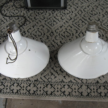 Old QUAD Porcelain sign Lights  - Lamps