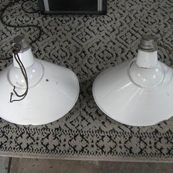 Old QUAD Porcelain sign Lights  - Lamps