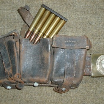 WWI German Ammo Pouch and Belt