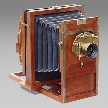 Flammang's Patent Revolving Back Camera (rear focus pattern), c.1883-98 - Cameras