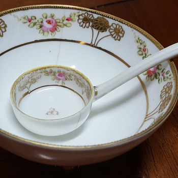 Hand Painted Nippon Bowl and Spoon