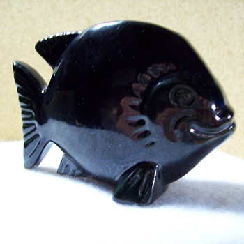 Frankoma - 185 - Fish Flower Holder. - Pottery