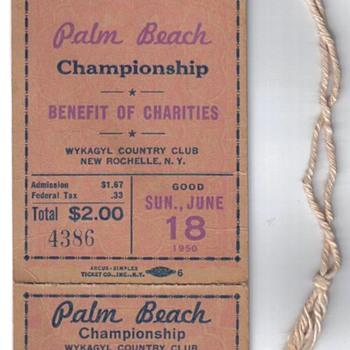 1950 PGA Tournament Ticket